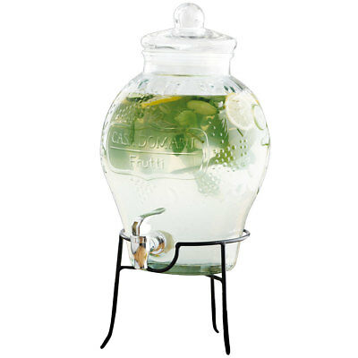 Casa Domani Frutti 6L Glass Juice Dispenser/Stand/Water/Drink/Beverage/Catering