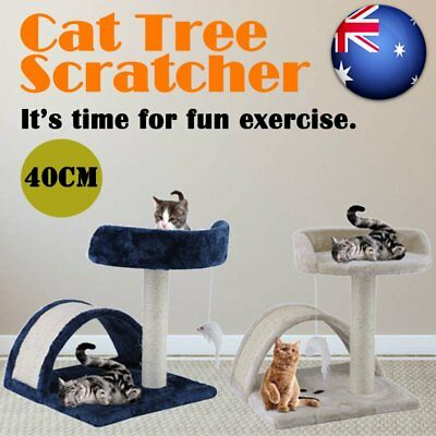 Cat Scratching Post Tree Gym House Furniture Scratcher Pole Toy Small 40cm AU