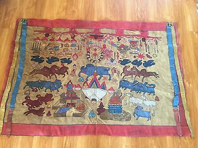 Mongolian Buddhist Old APPLIQUE 19 century  HUGE ! ! !
