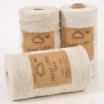 Quality British Made 'Everlasto' Polished Cotton Parcel Twine String 1Mm 2Mm 3Mm