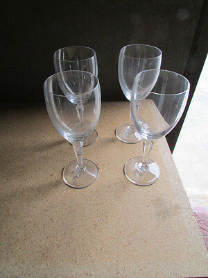 """Crystal Wine Glass Set of Four 3"""" Round x 8"""" Tall"""
