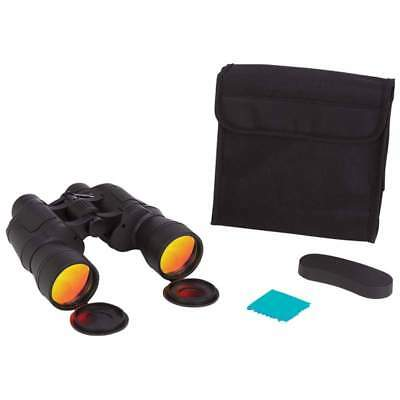 Magnacraft® 10x50 Binoculars with Ruby Red Coated Lenses for Glare Reductio