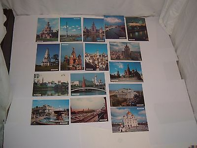 Moscow,A Collection of 16 Postcards,Cathedral of St.Basil the Blessed,Kremlin