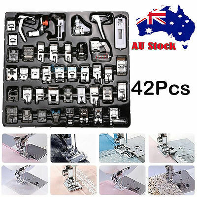 Popular 42 PCS Domestic Sewing Machine Foot Feet Snap On For Brother Singer Set