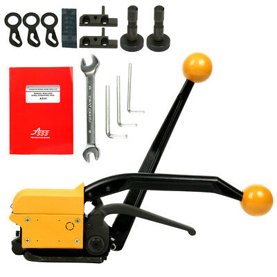 Manual Steel Strapping Tool13-19mm 850N Tension Belt Packing Machine Fast Ship