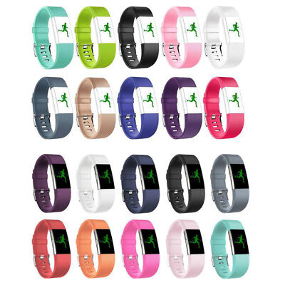 New Fitbit charge2 Replacement Silicone Rubber Band Strap Wristband