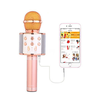Bluetooth Wireless Microphone Singing Karaoke Recorder Support TF Card / AUX-in