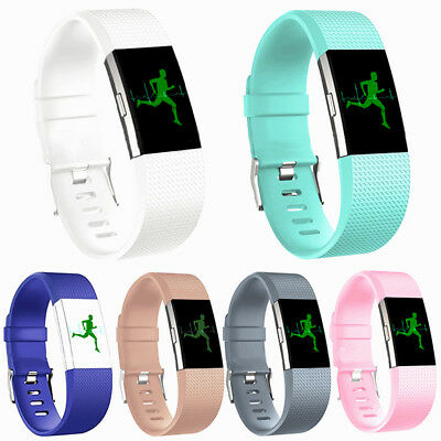 New Fashion Fitbit charge2 Replacement Silicone Rubber Band Strap Wristband