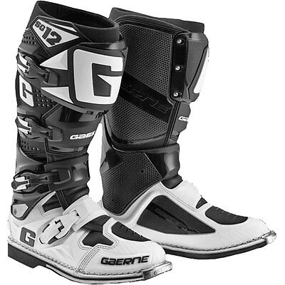 GAERNE SG12 LIMITED Motocross Boots Black White Off Road