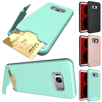 For Samsung Galaxy S8 Shockproof Rugged Hybrid Rubber Protective Hard Case Cover