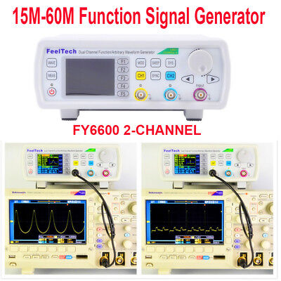 Digital FY6600 15-60MHz Dual Channel DDS Function Signal Generator Waveform Kit