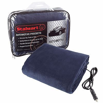 12V Electric Heating Warm Heat Heated Automobile Blanket, Emergency Safety Auto