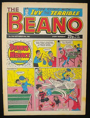 Beano Comic VGC - 24th September 1988 - 29th Birthday - Month Of Birth Gift Idea