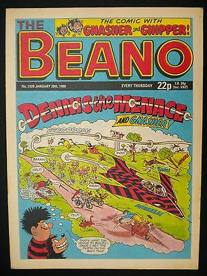 Beano Comic Nr Mint, 28th January 1989, 28th Birthday, Month Of Birth Gift Idea