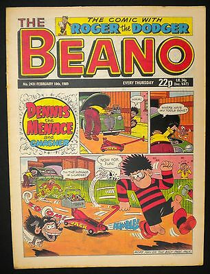 Beano Comic VGC - 18th February 1989 - 28th Birthday - Month Of Birth Gift Idea