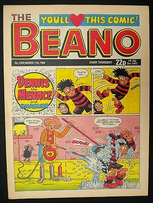 Beano Comic Nr Mint - 11th March 1989 - 28th Birthday - Month Of Birth Gift Idea