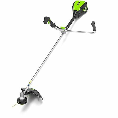Greenworks Pro 80v Cordless Brushcutter Bike Handle 2Ah Battery & Charger Inc
