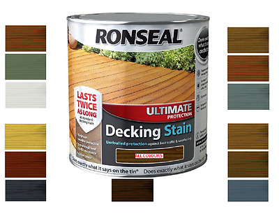 Ronseal Ultimate Protection Decking Stain Rich Colours Tough Durable Paint 2.5L
