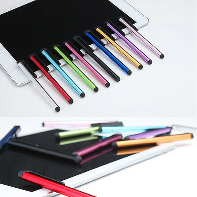 10 Pcs Universal Metal Capacitive Touch Screen Pen Stylus For iPhone Samsung PC