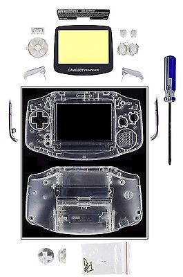 Game Boy Advance [GBA] Replacement Case/Shell/Housing [Transparent Clear]