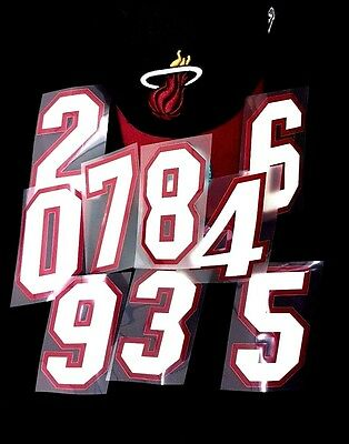 NBA Official  Numbers Miami Heat Road Print  on Iron