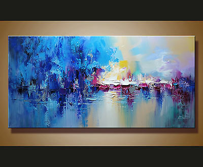 Modern Abstract hand-painted Art Oil Painting Wall Decor canvas Ready to hang