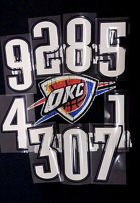 NBA Official Front/Short Numbers Oklahoma City Thunder  Road  Print  on Iron