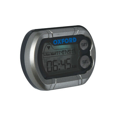 Oxford Digital Micro Clock Silver - Waterproof Motorcycle Clock - OF219/OX562