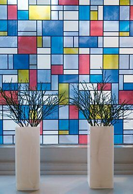 Stained Glass Window Fablon Sticky Back Plastic Multicoloured Self Adhesive