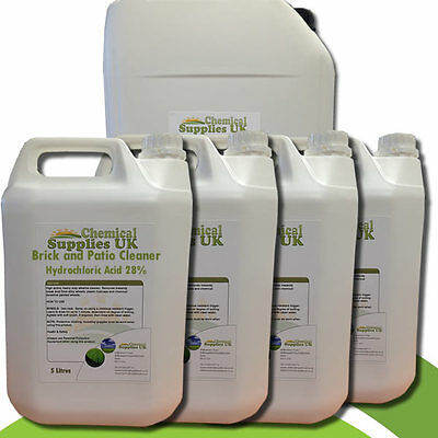 Hydrochloric Acid - 28% Extra Strong Industrial Strength Brick & Patio Cleaner