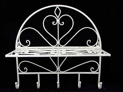 Wardrobe Wrought Iron Filing Cabinet Towel Holder White Folding UsedLOOK