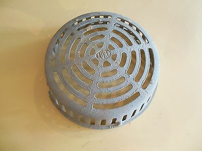 """Nice Vintage Industrial Cast Iron Drain Cover or Roof Vent, Salvage 12 3/4"""" D"""