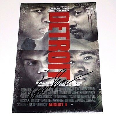 DIRECTOR KATHRYN BIGELOW SIGNED 'DETROIT' 12x18 MOVIE POSTER PHOTO W/COA 1967