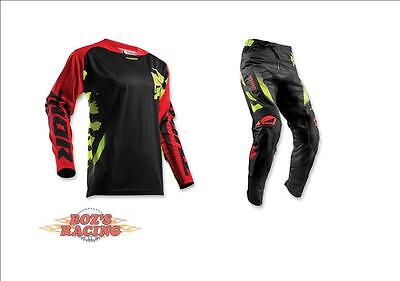 2018 Thor Racing Fuse Rampant Black, Red, And Lime Jersey &  Pant Combo Sx Mx