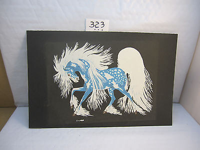 "Woody Crumbo ""spirit Horse"" Seriagraph Silk Screen"