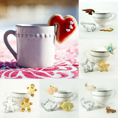 Funny DIY Biscuits Cutter Cup Hanging Cookies Baking Tools Mould Mug Decor Heart