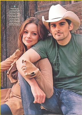Brad Paisley with wife Kimberly, Country Music Star in 2012 Magazine Clipping