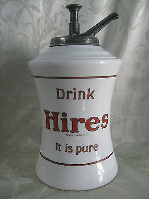 "1920""s Charles Hires Company Philadelphia Root Beer Syrup Dispenser excellent"