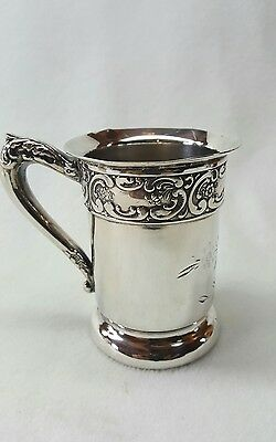 Antique Quadruple Silver Embossed Cup Stamped Pcs
