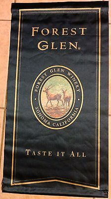 "FOREST GLEN WINERY Sonoma California (1) Advertising Sign/Flag 17 1/2 x 33"" MINT"