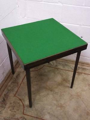 Antique Vono Folding  Games / Card Table, New Felt To Upper Surface