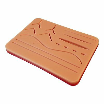 "Large Suture Pad w/ Wounds 7"" x 5"" Light Skin New Free Shipping"