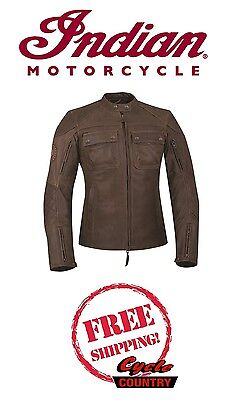 Genuine Indian Motorcycle Women's Benjamin Leather Jacket Vented W/ Armor New
