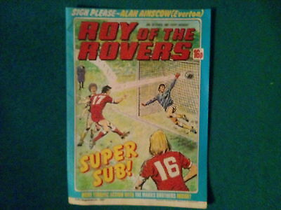 Roy Of The Rovers Comic 24Th October 1981 In Excellent Condition