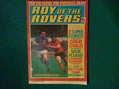 Roy Of The Rovers Comic Dated 31 October 1981