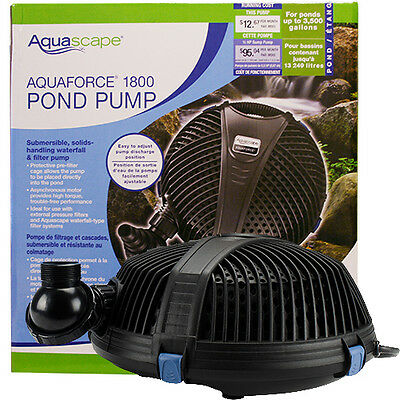 Aquascape AquaForce 1800 Pump  with BONUS Floating Pond Thermometer!