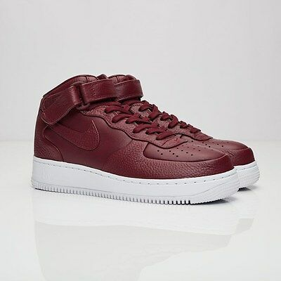 Nike Air Force 1 Mid 819677-661 Night Maroon Men Size US 4.5 NEW 100% Authentic