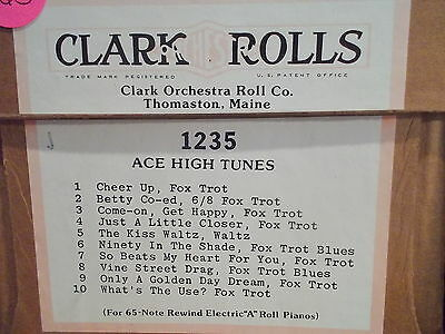 CLARK Nickelodeon Music Roll #1235 - ACE HIGH TUNES - #165