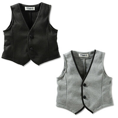 Baby Toddler Boy Formal Tuxedo Dressy Suit VEST *Black *  size 00