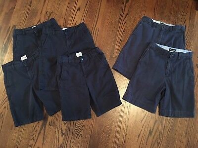 Boys School Uniform Shorts Lot The Children's Place And George Size 8 Navy Blue